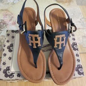 Tommy Hilfiger Wedges Sandals Tan/Black